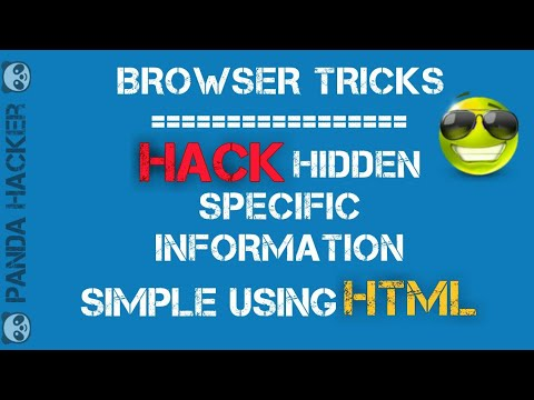 Browser tricks: Get Hidden Specific Information Using in HTML with Javascript
