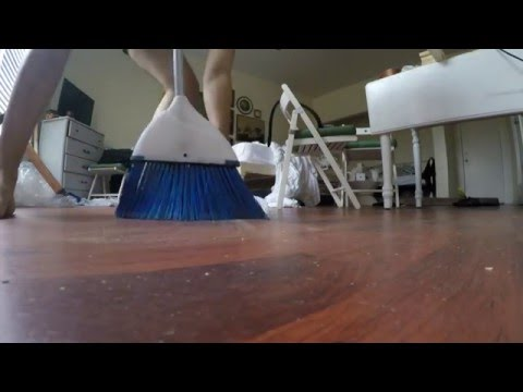 Talk Dirty Live Clean - Sweeping Wood Off a Hard Wood Floor