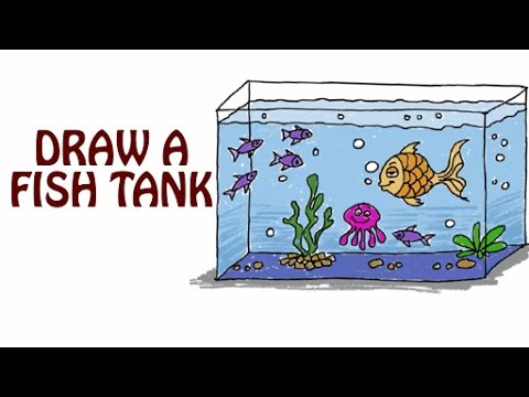 Learn How To Draw A Fish Tank | Fish Tank Drawing For Kids | Basic Drawing Lessons For Kids