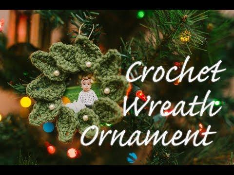 Easy DIY Crochet Christmas Wreath Ornament
