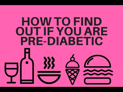 How to find out if I am Pre-Diabetic or at risk for type 2 Diabetes