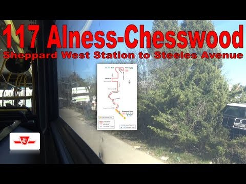 117 Alness-Chesswood - TTC 2010 Orion VII NG 8206 (Sheppard West Station to Steeles Avenue)