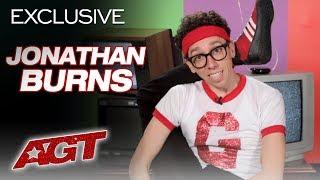 Jonathan Burns Puts A Comedic TWIST On Contortion - America's Got Talent 2019