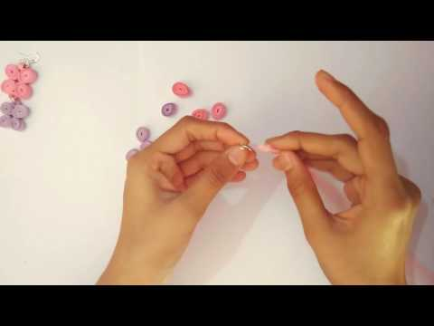 Easy Quilled Earrings Tutorial : Paper Earrings for Girls | Handmade Jewelery