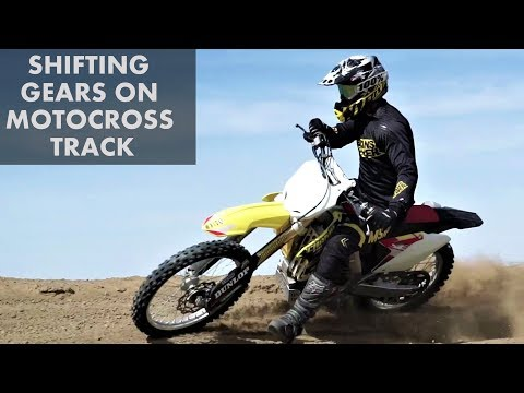 Dirt bike gears shifting and clutch control on motocross track - motovlog