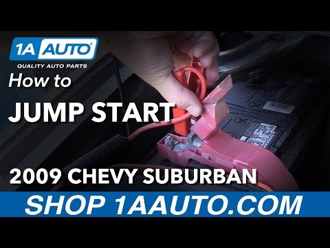How to Jump Start With Booster Jump Pack 2009 Chevrolet Suburban