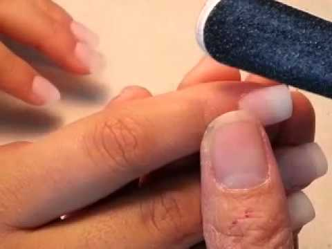 How to do a full set acrylic nails in 7 minutes.