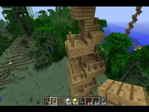 Minecraft Inventions: The Spiral Staircase Treehouse