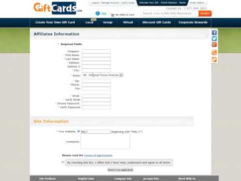 Signing Up for an Affiliate Account