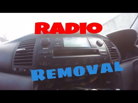 How to remove car radio Toyota corolla