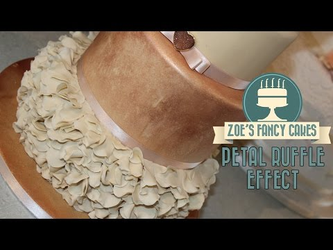 petal ruffle effect cake decorating tutorial fancy pattern on a cake How To Cake Decorate