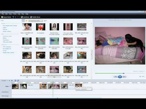 How to add media clips and transitions using Windows Movie Maker