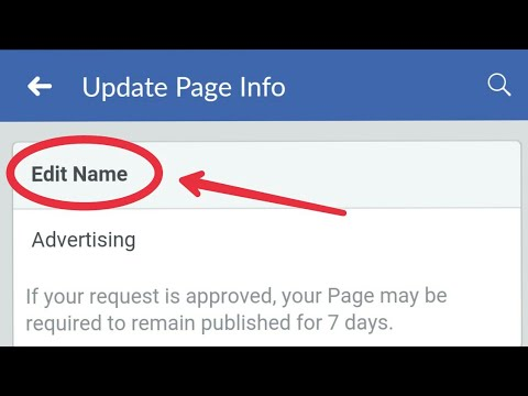 Facebook || How To Change Facebook page Name