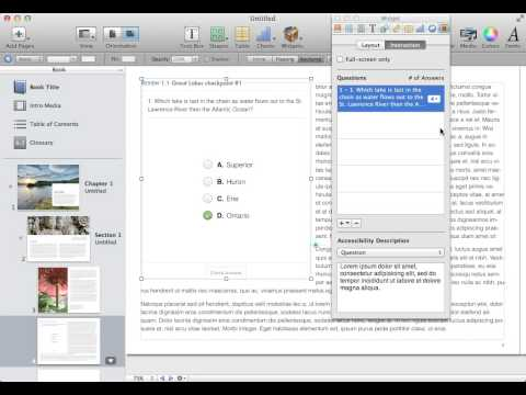 Creating a review (quiz) widget in iBooks Author.mp4