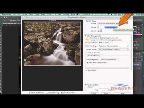 Using printer color profiles Photoshop CC CS6 HP Mac