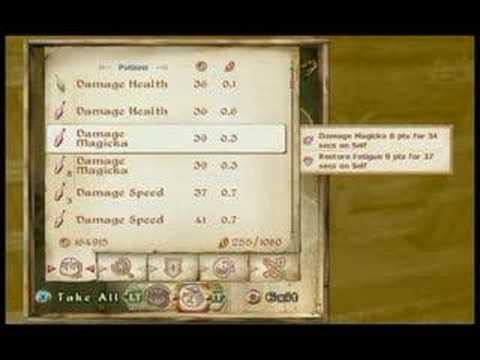 Xbox 360 - Oblivion - Alchemy