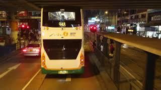 Hong Kong Bus Kmb Vr5895@968 銅鑼灣(天后)→元朗西 (全程行車片段)