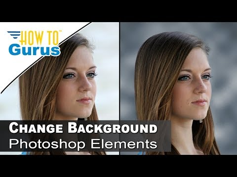 How To Change to Studio Photography Design Background in Photoshop Elements 2018 15 14 13 Tutorial