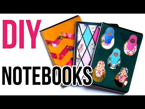 DIY Notebook Cover Ideas || Back to School 2016