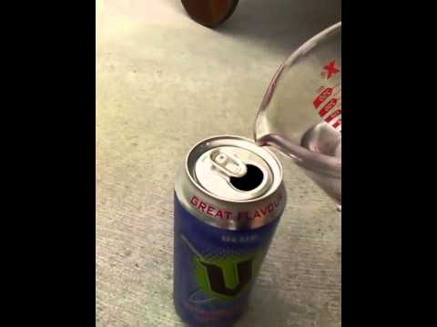 how to make a can lean on its side