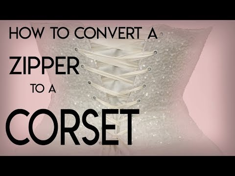 Change Zipper to Corset Back, Grommet Style Corset DIY