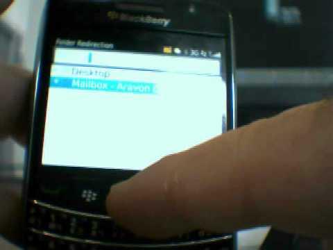 blackberry folders redirection
