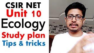 CSIR NET life science unit 10  | CSIR NET study plan for syllabus unit 10