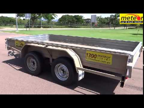 Meteor Car & Truck Rental - 12' x 6' tandem axle box trailer (ie: open topped trailer)