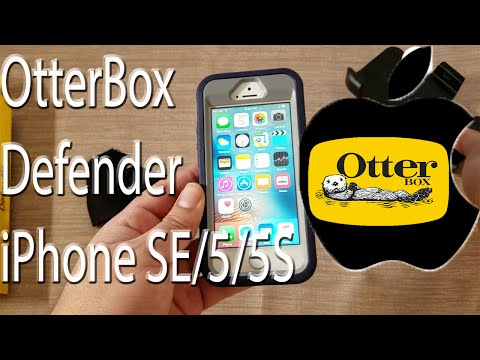 Otterbox Defender Series for the iPhone SE/5/5S in Steel Berry