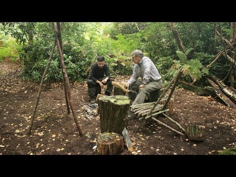 Bushcraft & Fishing - Catch and Cook Pan Fried Fish on the Fire at The Bushcraft Camp