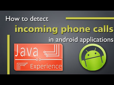How to detect incoming call in android application using code