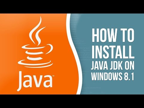 How to install Java JDK on Windows 8.1