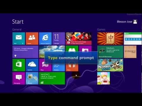 Windows 8 - Create shortcut for command prompt on desktop (using mouse)