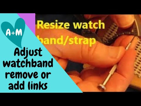 How to Adjust a Metal Watch Band with Basic Tools