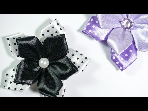 Ribbon Flowers: Ideas for dresses | DIY Tutorial by HandiWorks #119