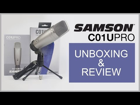 Samson C01U Pro Mic Unboxing & Review / Test - Best Budget Professional USB Condenser Microphone