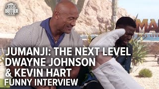 Jumanji: The Next Level | Dwayne Johnson & Kevin Hart Funny Interview | Extra Butter