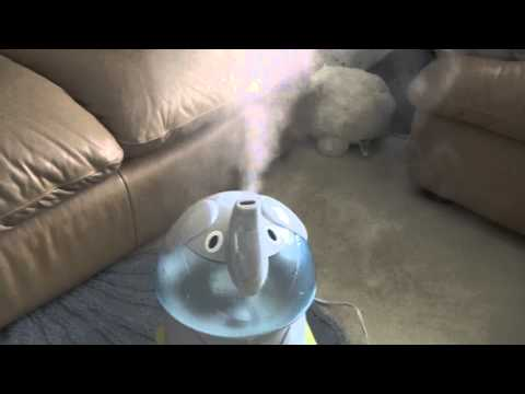 Crane Adorable Elephant cool mist humidifier running