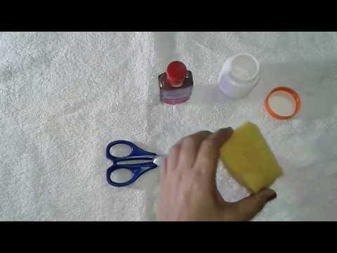DIY : NAIL POLISH REMOVER JAR / HOW TO MAKE NAIL PAINT REMOVER JAR  AT HOME / RUBI'S RECIPES