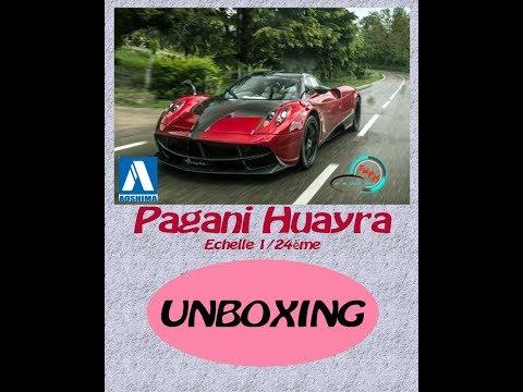 Montage - Pagani Huayra - Aoshima 1/24ème - Unboxing