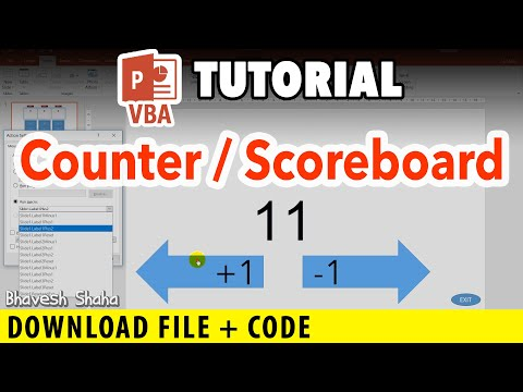 How to make a Counter in PowerPoint [VBA] [Tutorial] + Download FREE