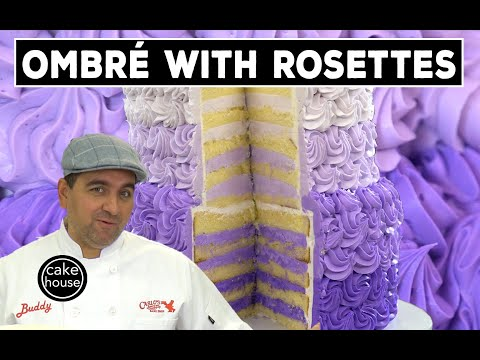 The Cake Boss Makes An Ombré Cake with Rosettes Look EASY | Welcome to Cake Ep08