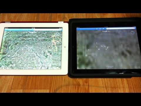 iPad1 vs The New iPad on Google Earth