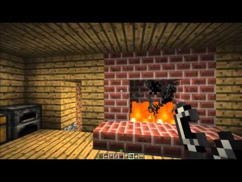How to make a FirePlace and Chimney in Minecraft! [Minecraft Furniture Episode 5]