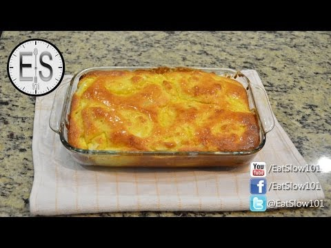 How to make an apple, bacon, and corn bread cassarole.
