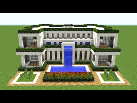 Minecraft - How to build a modern house - 2018
