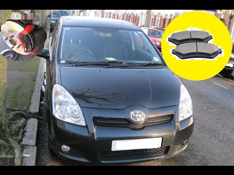HOW TO REPLACE REAR BRAKE PADS | TOYOTA COROLLA VERSO