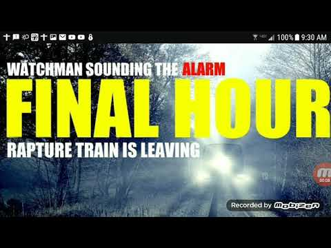 THE RAPTURE TRAIN IS LEAVING...ALL ABOARD NOW!!!