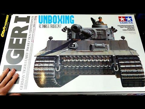 TAMIYA 1/16 TIGER 1 RC Tank BOVINGTON TIGER Build Series Video 1 - UNBOXING