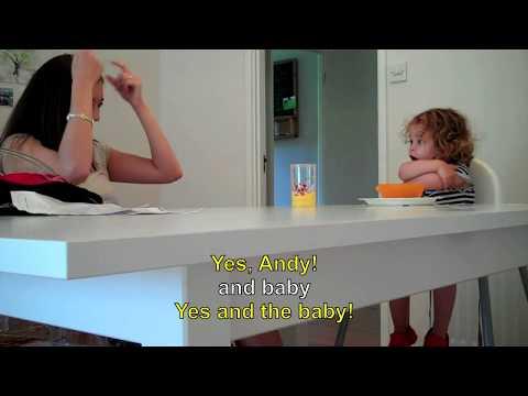 Ava (24 months old) British Sign Language Dinner Chat